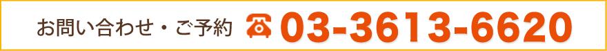 お問い合わせ 03-3613-6620