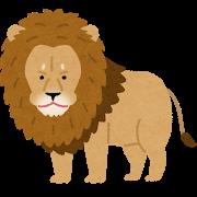 雄ライオンの首のたてがみが姿